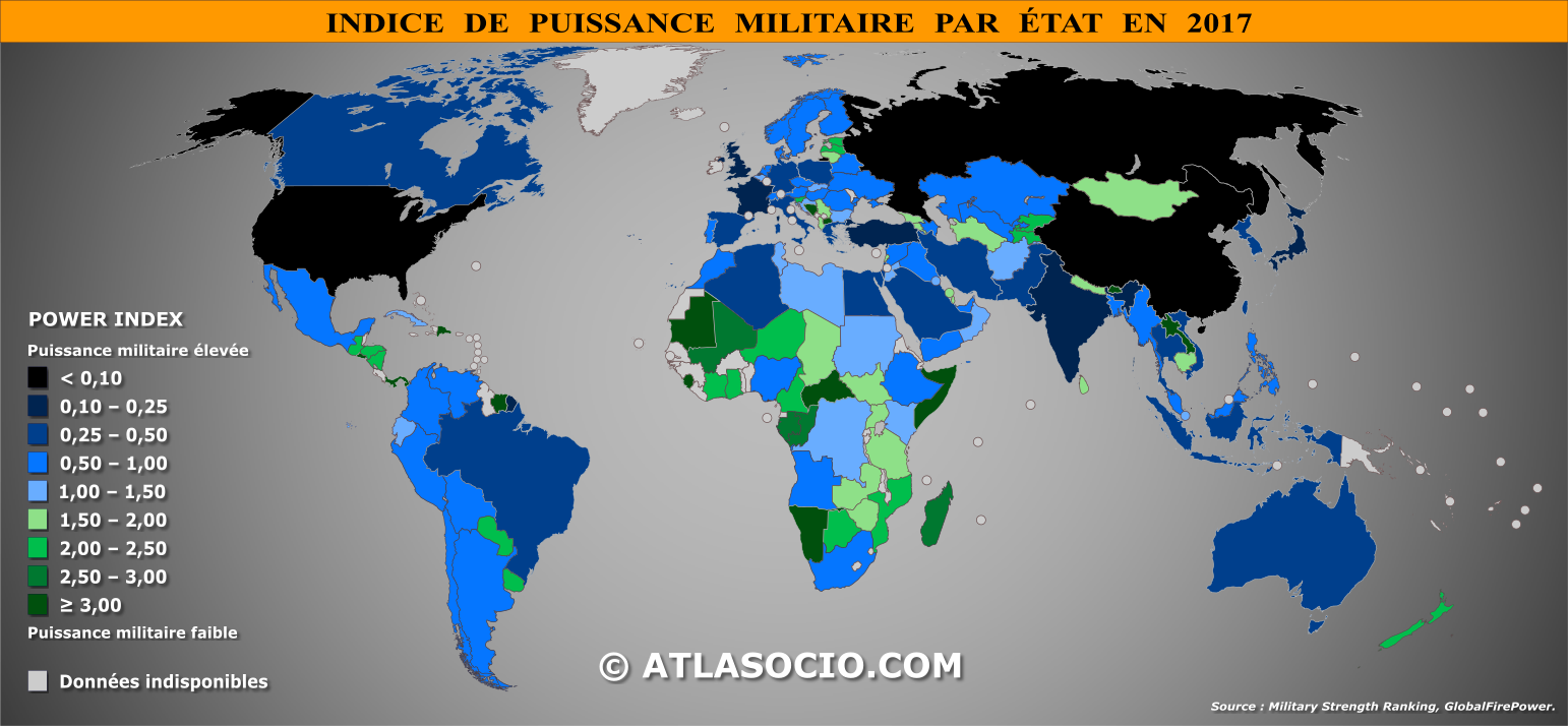 classement des tats du monde par puissance militaire en 2017. Black Bedroom Furniture Sets. Home Design Ideas