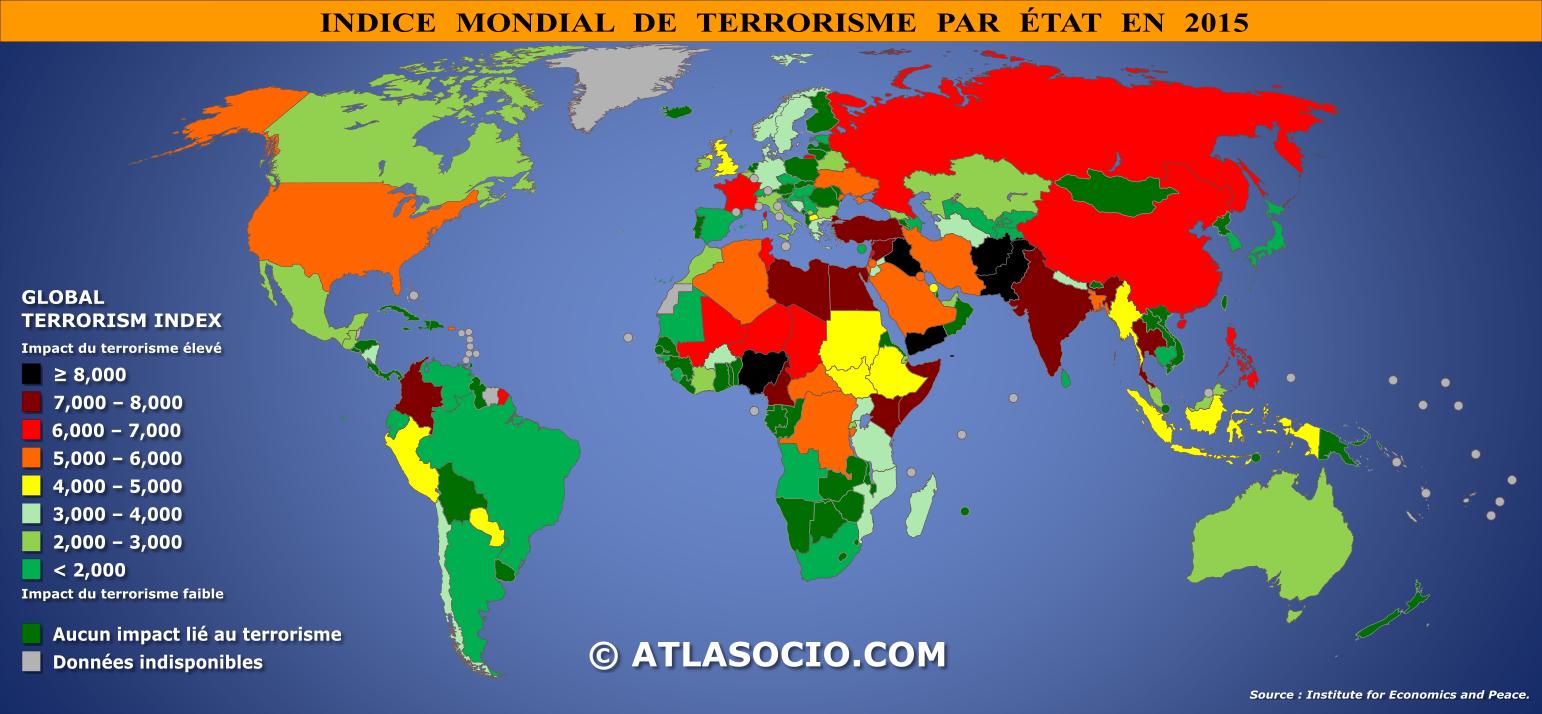 Cartes relatives l 39 indice de terrorisme - Indice national des salaires du btp ...